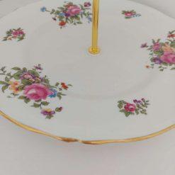 Stunning flower posy vintage cake stand 6