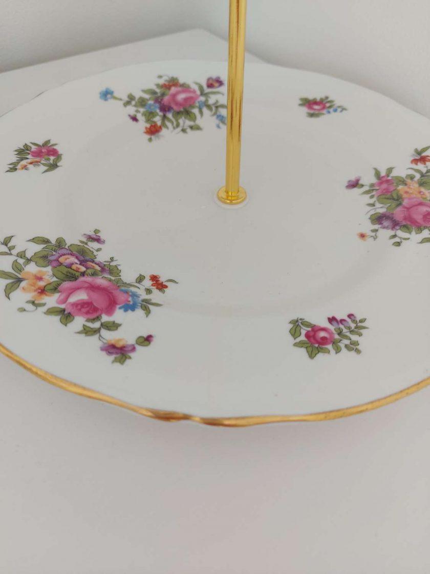Stunning flower posy vintage cake stand 2