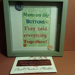 'Mums are like buttons' box framed button art