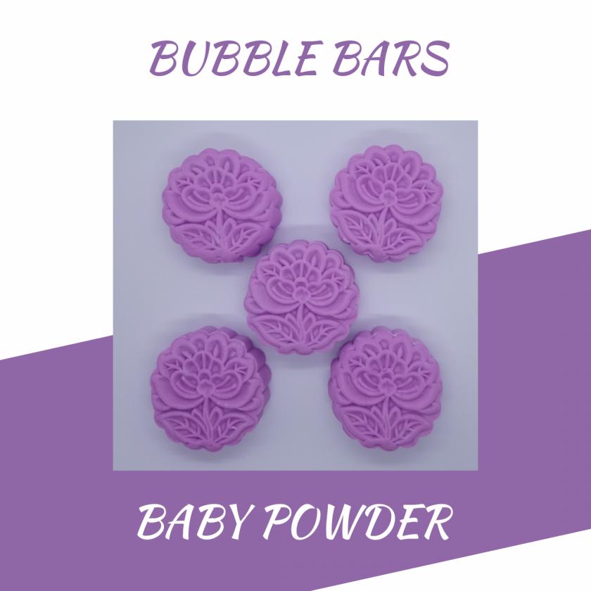 Handmade baby powder bubble bar /solid luxury bubble bath 1