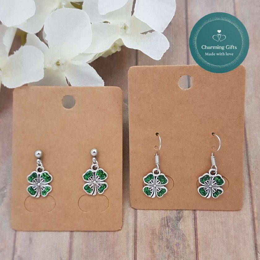 - Clover Shamrock Lucky Pendant Necklace, Earrings, Bracelet, Jewellery (Priced Individually) 4