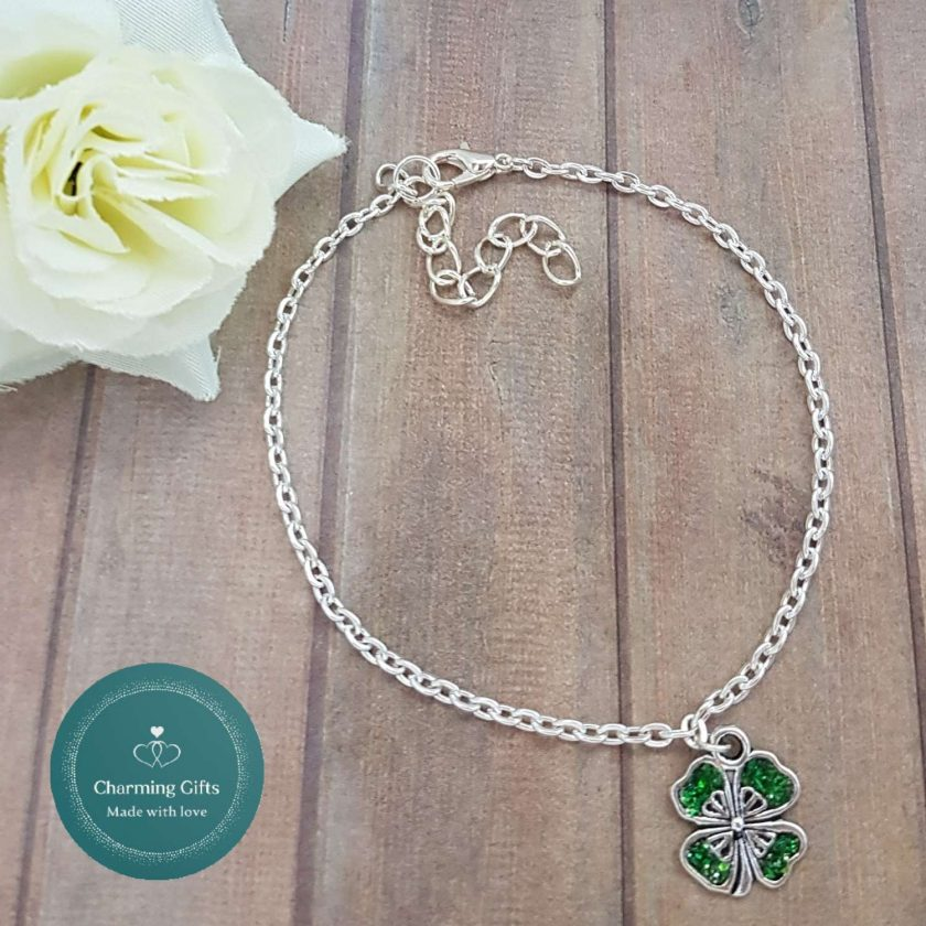 - Clover Shamrock Lucky Pendant Necklace, Earrings, Bracelet, Jewellery (Priced Individually) 3