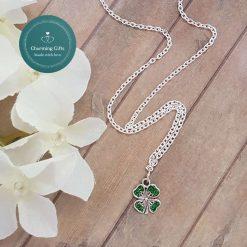 - Clover Shamrock Lucky Pendant Necklace, Earrings, Bracelet, Jewellery (Priced Individually) 6