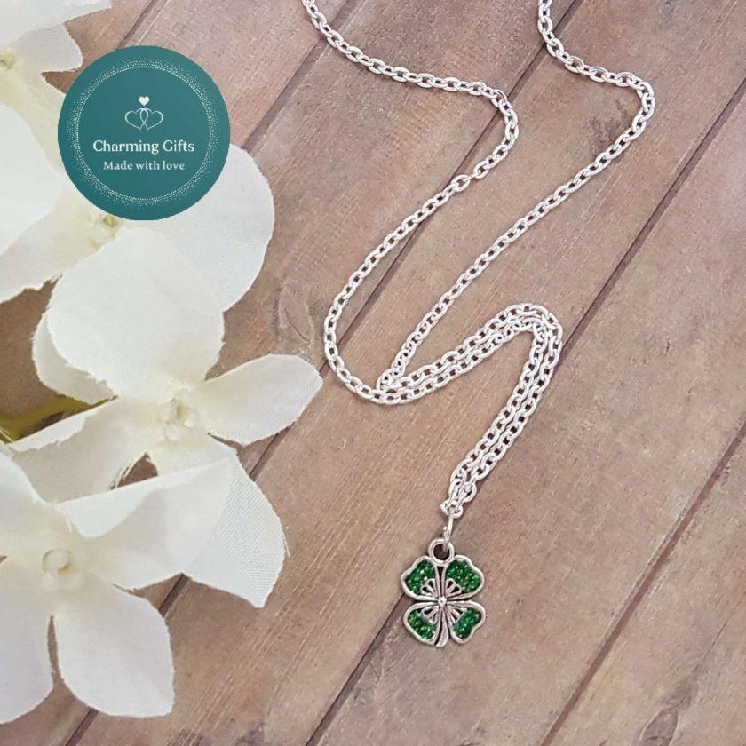 - Clover Shamrock Lucky Pendant Necklace, Earrings, Bracelet, Jewellery (Priced Individually) 2