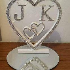 Personalised Heart with your initials. Wedding, Anniversary Valentines gift. 1