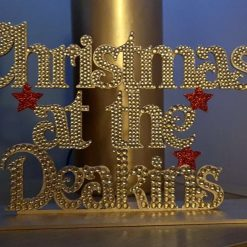 Christmas at the Surname standing decoration