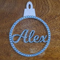 Personalised hanging Baubles Name. Mr & Mrs, Baby's 1st, Lockdown 2020 Tree decoration/ornament 6