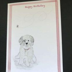 Dog birthday card 1