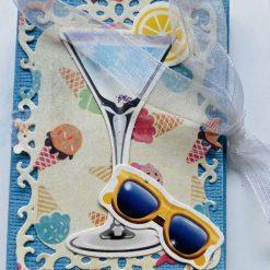 Cocktails Lip Balm (Chapstick) Holder Card