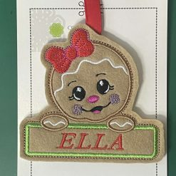 Embroidered Christmas Tree Hangers or Tags 11