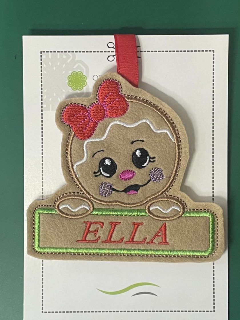 Embroidered Christmas Tree Hangers or Tags 6