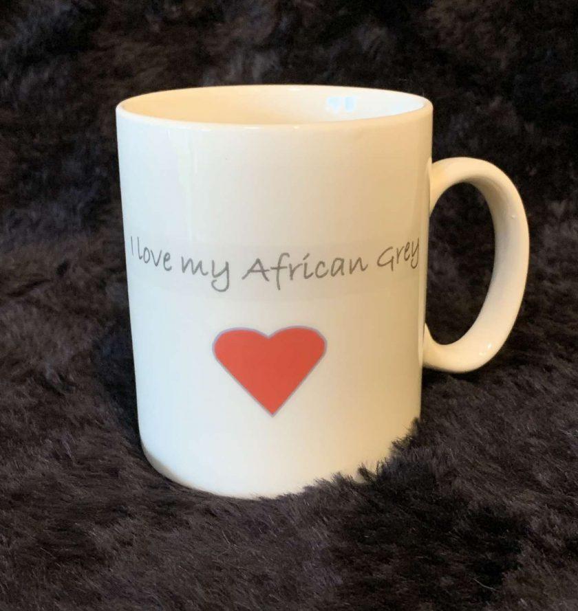 African grey parrot mug 3