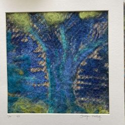 Original screen print and Needle felt textile art / free p.p