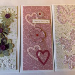 set of 3 Hand made Birthday cards. SOLD