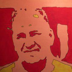 Portrait abstract pop art original painting 3