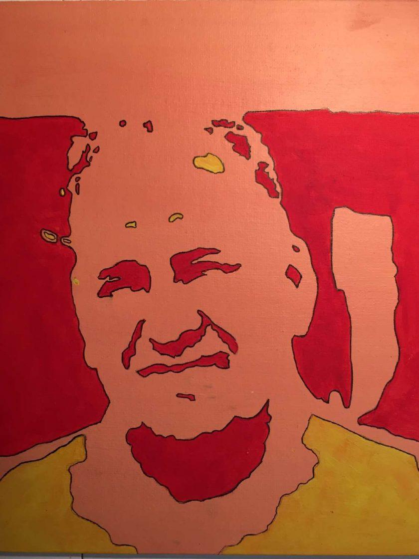 Portrait abstract pop art original painting 1