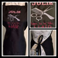 Personalised Embroidered Hairdresser Apron
