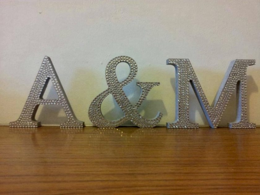 Standing Letters, Names or Words.