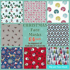 'PPE' Style FACE MASKS 🎄 Christmas CHARITY Collection 🎄 in support of The Alzheimer's Society 🎄 Washable & Reusable (Eco-Friendly) 🎄 Choice of Designs & Sizes 37