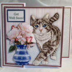 Cat - Get Well Soon handmade card