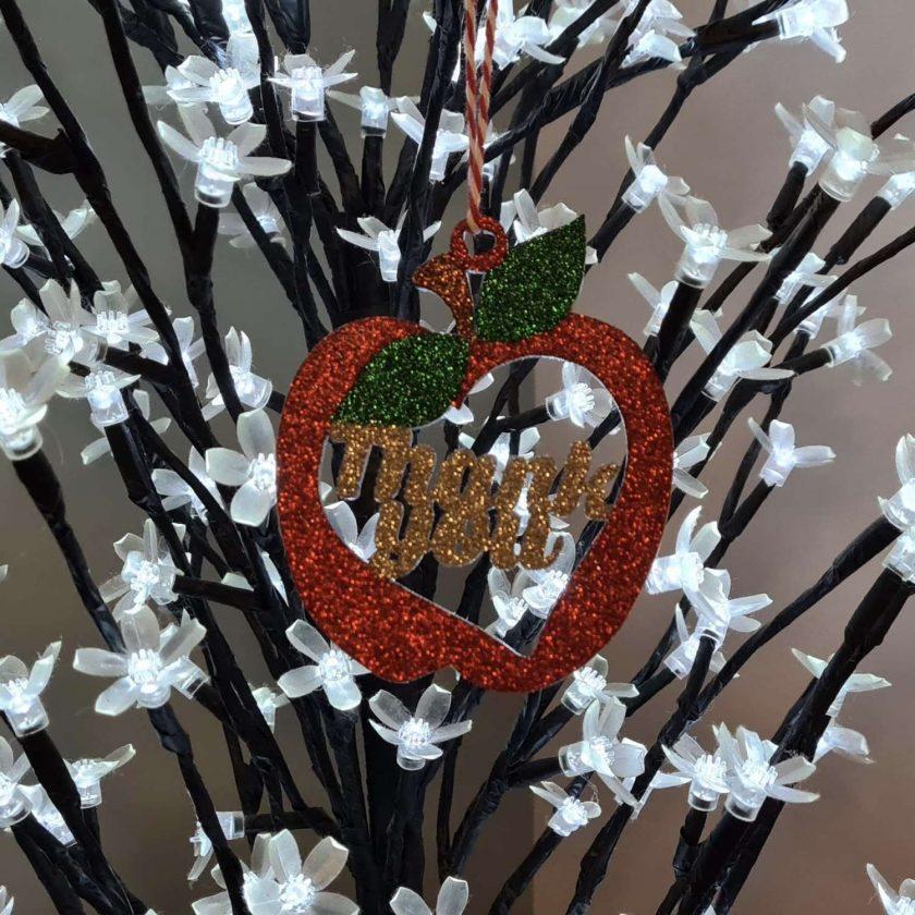 Thank you Teacher Apple, Christmas gift,School decoration/ornament