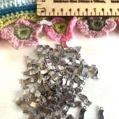 10 x cash bills money Tibetan silver charms, 2cm