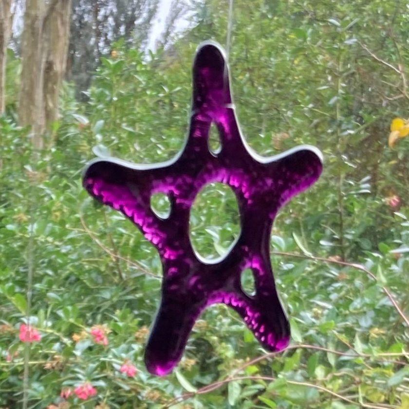Fused Glass Garden Stars