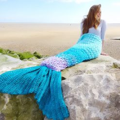 Crochet Mermaid Tail Blanket Chunky Cosy Snuggle Sack in Baby, Child and Adult sizes. Valentines gift for women, girls Handmade in UK 6