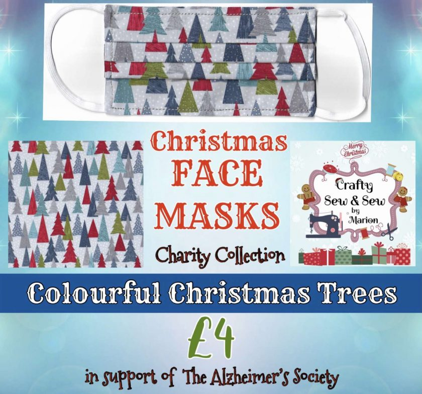 'PPE' Style FACE MASKS 🎄 Christmas CHARITY Collection 🎄 in support of The Alzheimer's Society 🎄 Washable & Reusable (Eco-Friendly) 🎄 Choice of Designs & Sizes 16