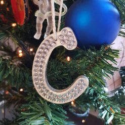 Hanging Initials.Tree decoration/ornament