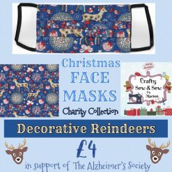 'PPE' Style FACE MASKS 🎄 Christmas CHARITY Collection 🎄 in support of The Alzheimer's Society 🎄 Washable & Reusable (Eco-Friendly) 🎄 Choice of Designs & Sizes 30