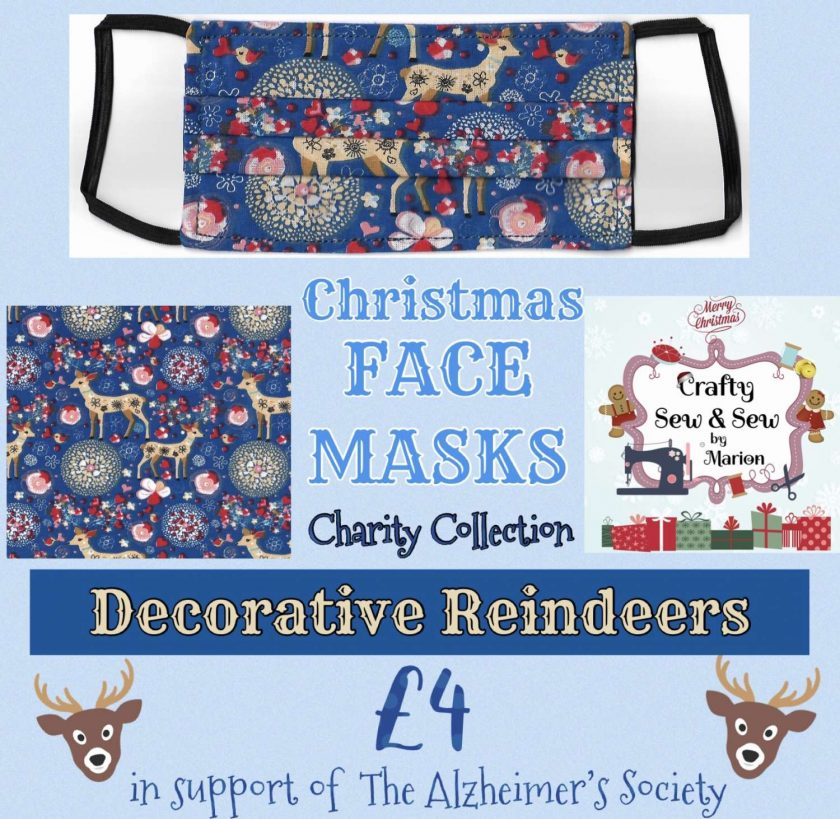 'PPE' Style FACE MASKS 🎄 Christmas CHARITY Collection 🎄 in support of The Alzheimer's Society 🎄 Washable & Reusable (Eco-Friendly) 🎄 Choice of Designs & Sizes 12