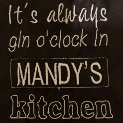 Personalised Embroidered Gin O'Clock Apron 2