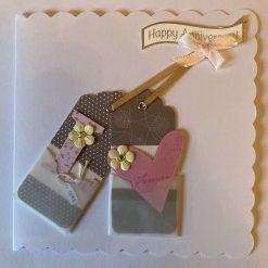 Hand made Anniversary card. - free p.p