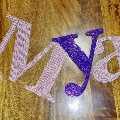 Wall letters, Crystal sparkly letters ideal for a Nursery or Baby shower gift.