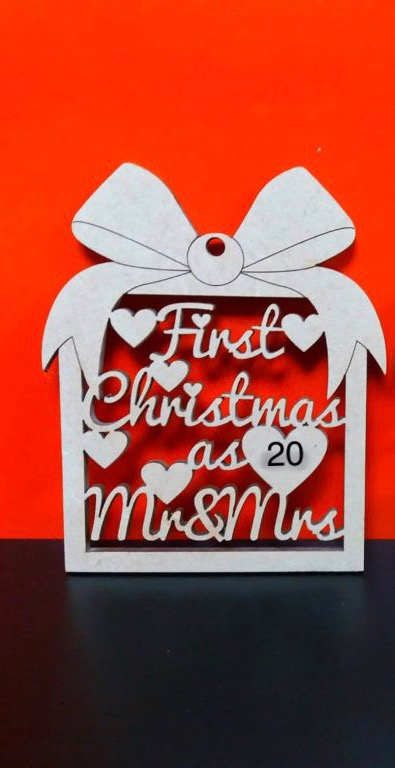 first Christmas as Mr and Mrs hanging ornament/decoration.