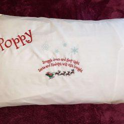 Personalised Christmas Eve pillowcase