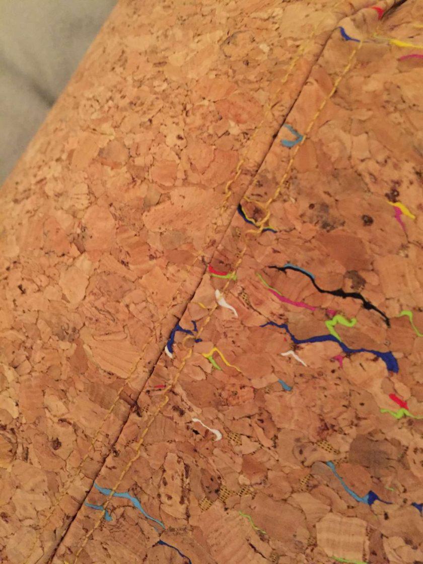 Sale: 1 only Rainbow panel cork tote handbag 6