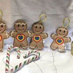 Gingerbread Man with Rainbow Heart - Keepsake / Ornaments
