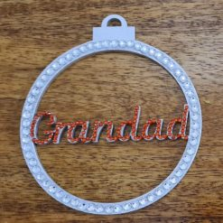 Personalised hanging Baubles Name. Mr & Mrs, Baby's 1st, Lockdown 2020 Tree decoration/ornament 3