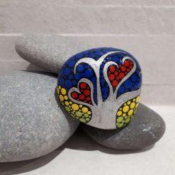 Hand painted tree of life pebble 'Summer' 4