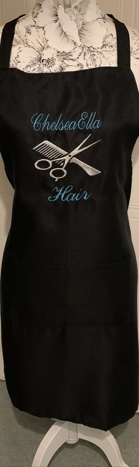 Personalised Embroidered Hairdresser Apron 3