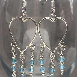 Beaded Heart Earrings (set 32)