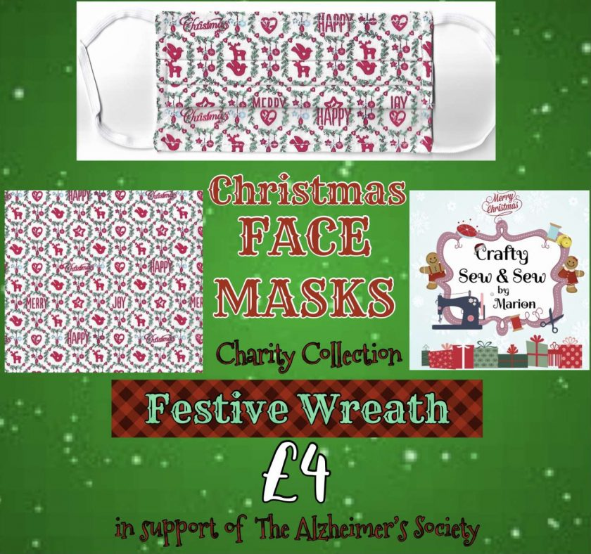 'PPE' Style FACE MASKS 🎄 Christmas CHARITY Collection 🎄 in support of The Alzheimer's Society 🎄 Washable & Reusable (Eco-Friendly) 🎄 Choice of Designs & Sizes 15