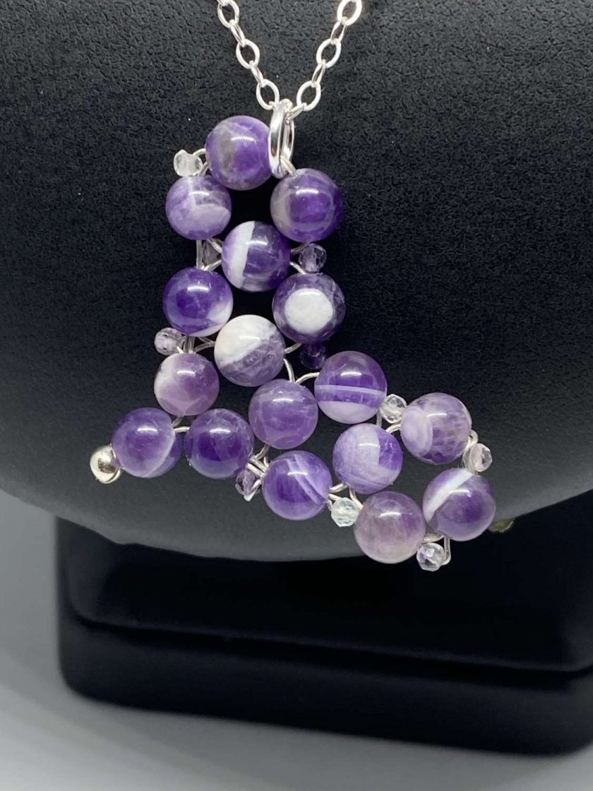 Amethyst Heart Pendant & 925 Sterling Silver Necklace 2