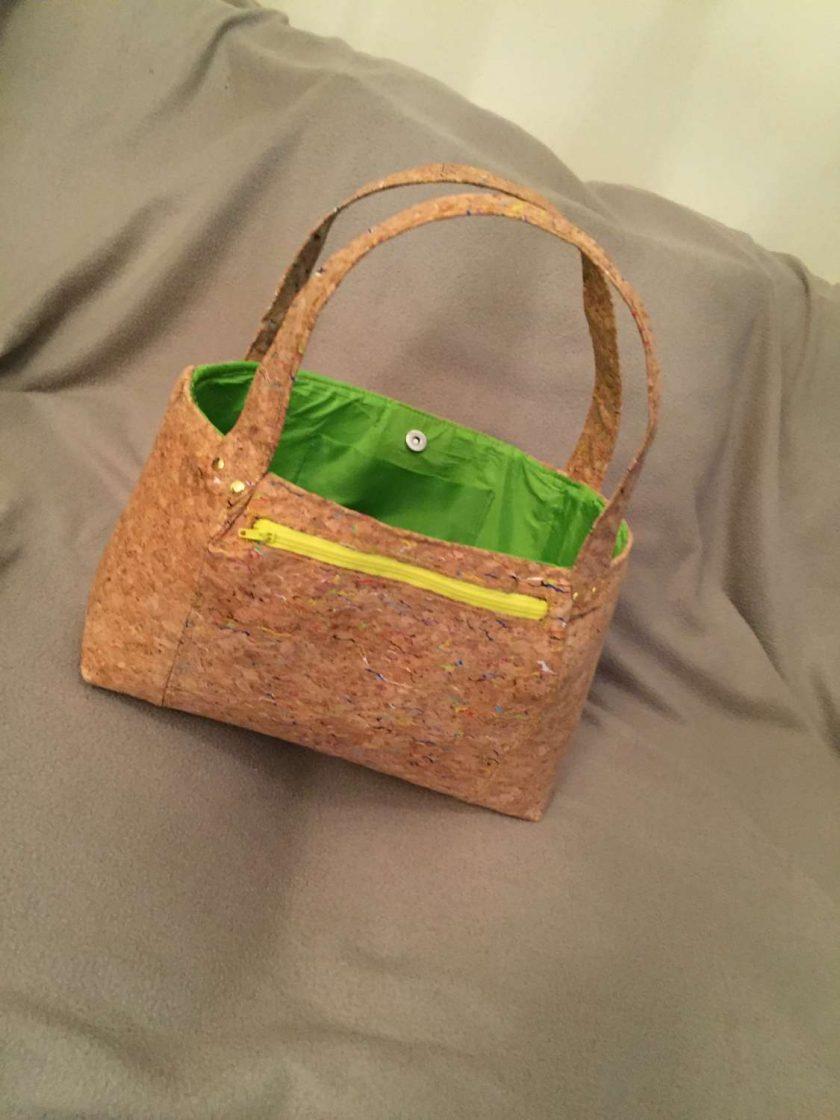 Sale: 1 only Rainbow panel cork tote handbag 1