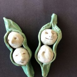 Cute Ceramic  Peas in a Pod