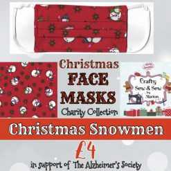 'PPE' Style FACE MASKS 🎄 Christmas CHARITY Collection 🎄 in support of The Alzheimer's Society 🎄 Washable & Reusable (Eco-Friendly) 🎄 Choice of Designs & Sizes 36
