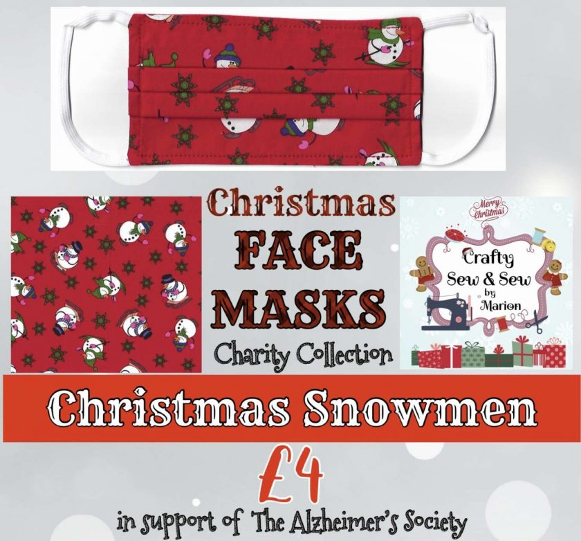 'PPE' Style FACE MASKS 🎄 Christmas CHARITY Collection 🎄 in support of The Alzheimer's Society 🎄 Washable & Reusable (Eco-Friendly) 🎄 Choice of Designs & Sizes 18