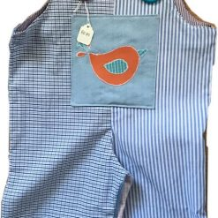 Recycled Fabric Boys Dungarees. Age 1-2 years BD80